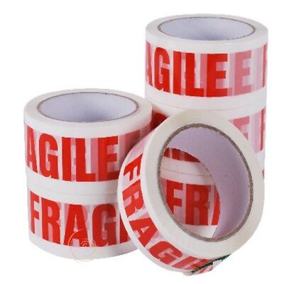 """Fragile Printed Strong Packing Parcel Tape Box Sealing 48Mm 2""""x 50M Multilisting"""