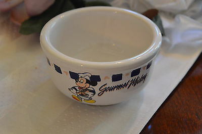 Disney Gourmet Mickey Mouse Thick Heavy Soup Ice Cream Cereal Bowl