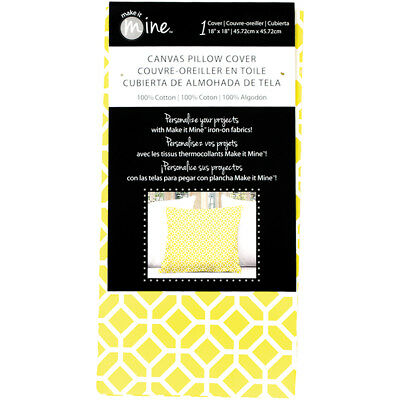 "Fabric Editions Canvas Pillow Cover 18""X18"" 1/Pkg-Yellow Lattice"
