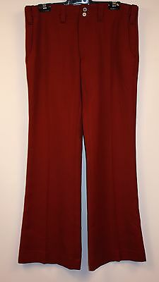 "MENS PLUM ORIGINAL VINTAGE 1970s FLAIRED PANTS. SIZE 5 "" SMITH & NEEPHEW"" 34"""