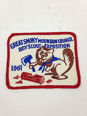 Vintage Boy Scouts BSA Patch - 1961 Great Smoky Mountain Council Exposition