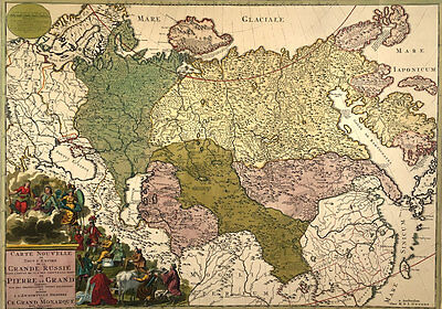 Carte Nouvelle de la Grande Russie or New Map of Grand Russia by R. and I. Otten