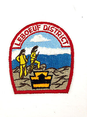 Vintage Boy Scouts BSA Patch 1960's Leboeuf District Very Good Condition