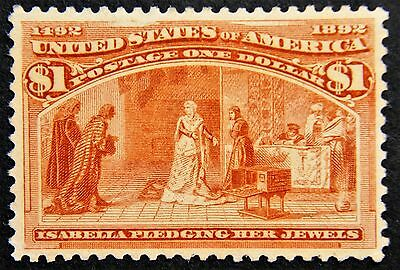 Scott #241 – $1 Columbian Exposition, M, NG, VF, with PSE Cert. SCV*=$600 (L810)