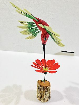 Spring Hummingbird Wood Carving Alebrije Sculpture Oaxaca Mexican Art Collection