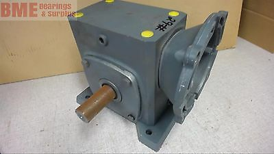 Boston Gear Left Angle Gear Reducer, .61 Input Hp, 1750 Rpm, 60:1 Ratio