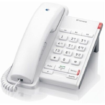 BT Converse 2100 Wall Mountable Elr/Tbr Switch-Able Corded Phone In Chalk White