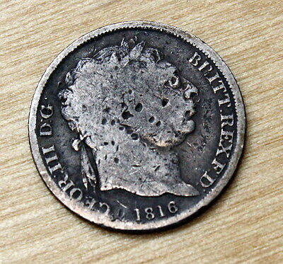 1816 Great Britain 6 Pence Silver