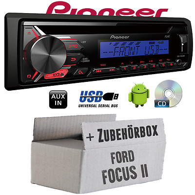Pioneer Radio para Ford Focus 2 CD MP3 USB AUTOMÓVIL Set montaje