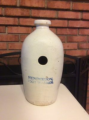 Vintage Henderson Foot Warmer