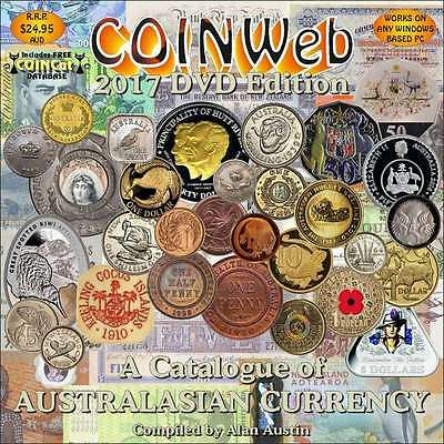 COINWeb 2017 DVD Digital Catalogue of Australian Currency. $17.50 (Free Postage)