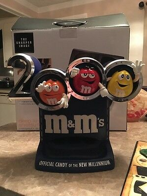 2000 M&Ms 3D Millenium Candy Dispenser Refillable Light Up Arm Pull Works RARE