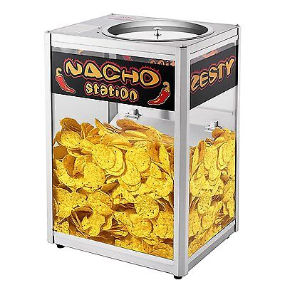 Commercial Popcorn Peanut Nacho Chips Warmer Station Concession Tortilla Cheese