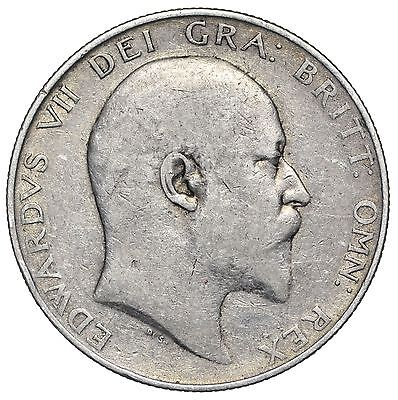 1904 Halfcrown - Edward Vii British Silver Coin - Scarce