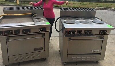 """2x """"GARLAND"""" COMMERCIAL H.D. Electric 6 Burners + 2 Burners And Griddle"""