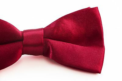 BOYS DARK RED BOW TIE Wedding Little Baby Toddler Kids Adjustable Pretied