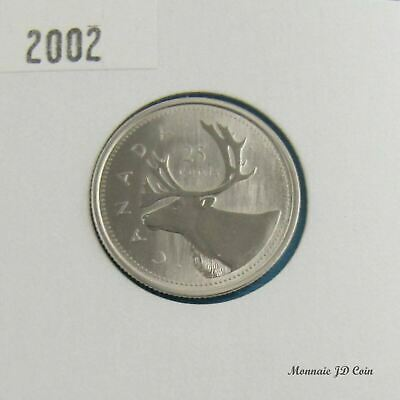 2002P Canada 25 Cents 1952/2002 Caribou Specimen Coin Gem Uncirculated From Set