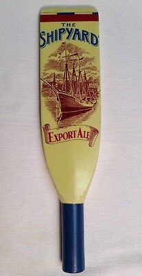 Rare Vintage SHIPYARD EXPORT ALE Tap Handle w/ Big Ship In Port & FREE SHIPPING