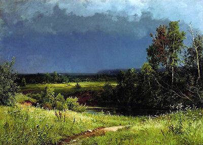 Oil Shishkin Ivan Ivanovich - Before the Storm stunning landscape Hand painted