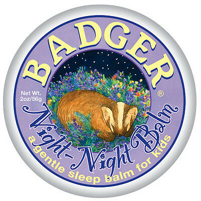 Badger Night Night Balm - The Sweet Dream Balm for Babies + Kids (56g) Lavender