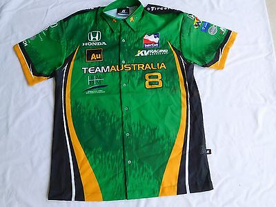 Team  Australia  Racing Crew Shirt Indy Car Series Size L Cotton New Well Made