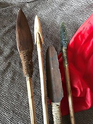 Collection of Old African Spears …beautiful four-piece collection