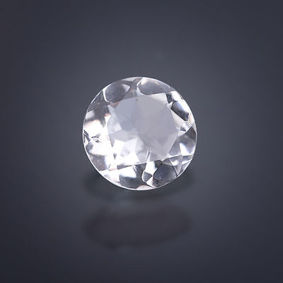 A Rock Crystal ca. 14 mm Round / facetted / Quartz (Box)