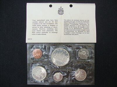 1966 Mint Set 6 Coins Uncirculated Royal Canadian 1.11 oz Cameo Silver Dollar