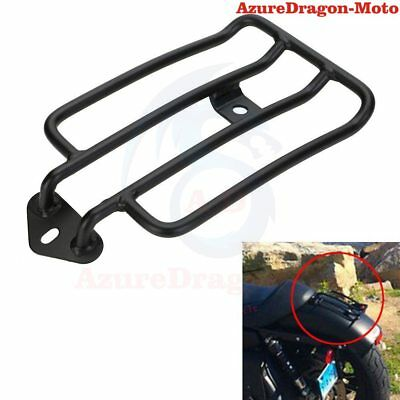 Black Luggage Rack For Stock Rear Solo Seat Harley Custom Sportster XL 883 1200