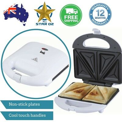 Jaffle Sandwich Press Toastie Maker Non Stick Grill Toaster Snack Toasted