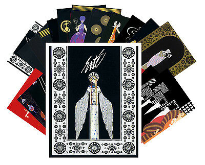 Postcards Pack [24 cards] Erte Art Deco Vintage Painting Illustration CC1018