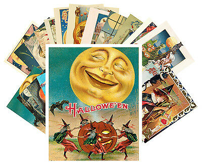 Postcards Pack [24 cards] Halloween Witch Pin Up Vintage Greeting Cards CC1013