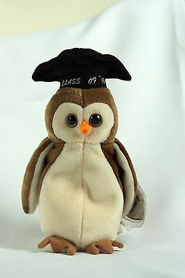 Ty Beanie Baby WISE 1998 OWL w/ Tag ERRORS Plush Toy RARE PE NEW RETIRED