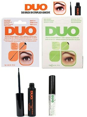 Duo Eyelash Lash Glue Adhesive In Clear ,white Or Dark Adhesive Brush On Vitamin