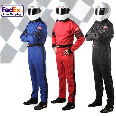 RaceQuip 110 Series Single-Layer Race Suit - All Sizes and Colors - SFI-3.2A/1