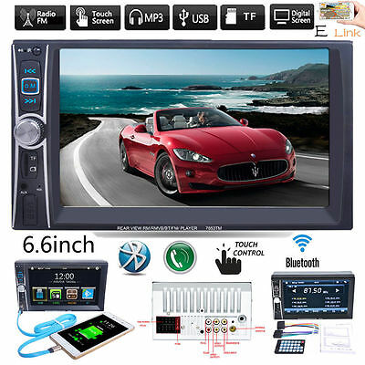 6.6''HD Double 2DIN Car Stereo Bluetooth Touchscreen MP3 MP5 Player FM Radio G1