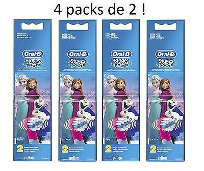 ( 4 packs de 2 ! ) ORAL-B Brossettes LA REINE DES NEIGES ( 4 packs de 2 ! )
