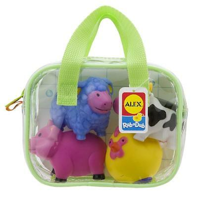 NEW Alex Toys Farm Animals Bath Squirters Bath Toy Play Set - Pk 4