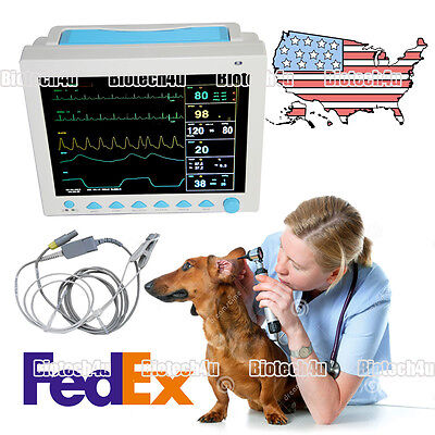 USA FedEx VET Veterinary Patient Monitor Vital Signs ICU 6-parameter CMS8000