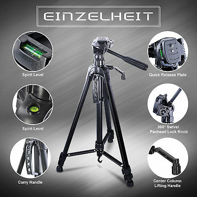 "Entry-level Tripod 61"" For Photographty DSLR Camera Camcorde Lightweight Canon"