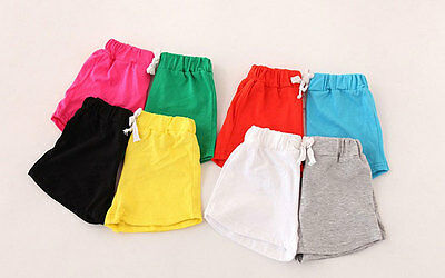 1Pc Summer  Kids Soft Cotton Shorts Boys Girls Shorts Colorful Clothing Pants