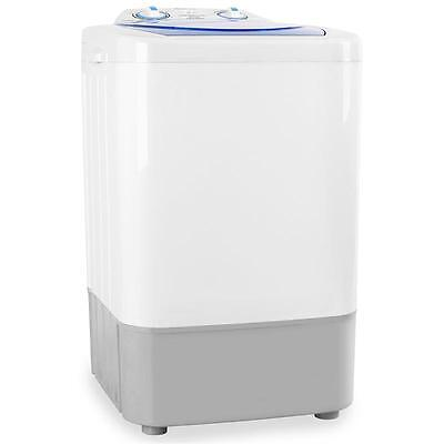 SMALL COMPACT 250W WASHING MACHINE PORTABLE CAMPING 2.8kg  TRAVEL WASHER WHITE