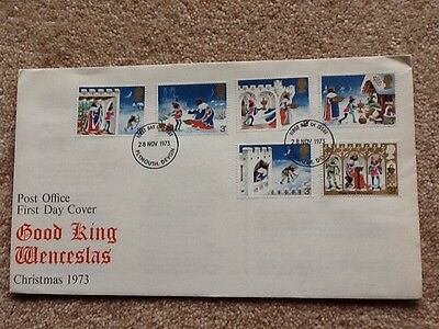First Day Cover – Good King Wenceslas Christmas 1973