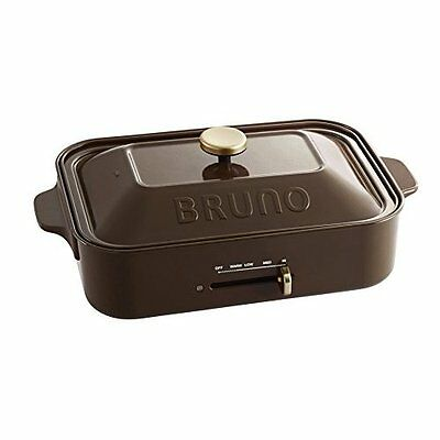 New BRUNO Compact Hot Plate Brown BOE021-BR AC100W Grill Takoyaki Japan new .