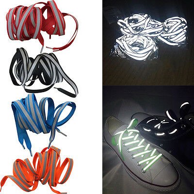 LED Flash Luminous Light Up Glow Nylon Strap Shoelace Shoe Laces Party Swag Wear