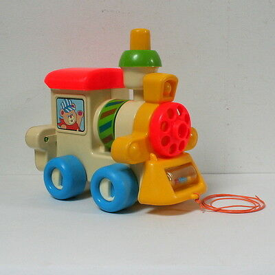Locomotive à tirer Playskool vintage 1982 Busy choo-choo