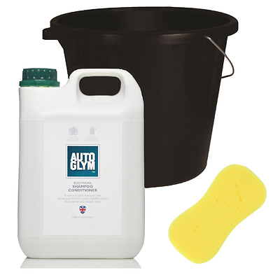 Autoglym Car Shampoo Cleaning Conditioner Soap 2.5 litre + FREE BUCKET & SPONGE