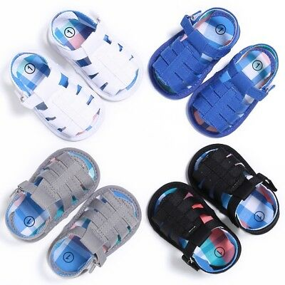AU Toddler Kids Baby Boy Girl Sandals Soft Sole Cotton Casual Summer Shoes 0-18M