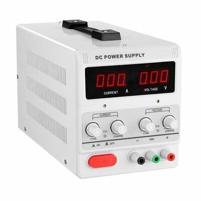 5/10A 0-30V Adjustable DC Power Supply Precision Variable Digital Lab w/clip CE