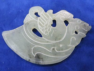 Jade Double Sided Pendant in the shape of an Axe